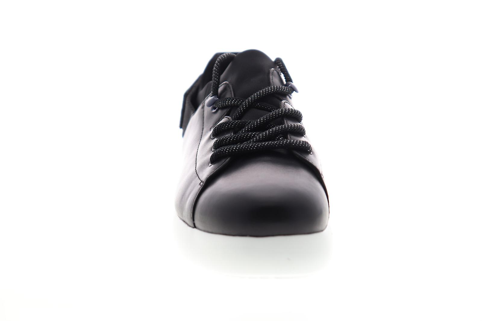 Camper Fiss Femmes Black Leather Lace Up Low Top Sneakers Chaussures - Remise particulière