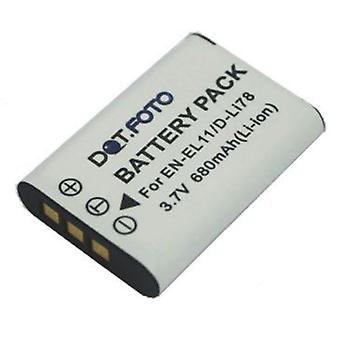 Dot.Foto Pentax D-LI78 sostituzione della batteria - 3.7 v / 680mAh