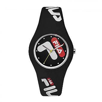 Uhr Fila 38-185-001 - Silikon Black Watch 40 mm Männer/Frauen