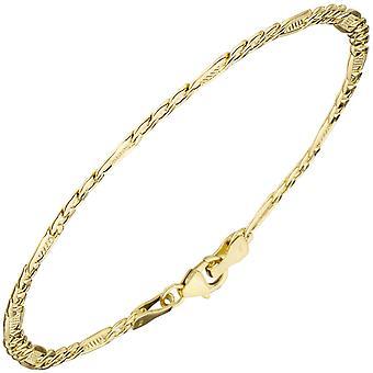 Náramek 333 zlaté žluté zlato 19 cm karabina se zlatým náramkem