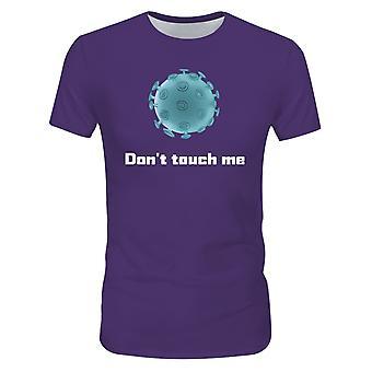 Allthemen Män & s 3D Don & apos; t Touch Me Fight Virus Series Kort T-shirt