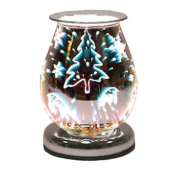 Aroma Oval 3D Effect Elektrische Wax Melt Tart Brander Warmer Rendier