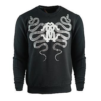 Roberto Cavalli Schlange Wappen schwarz Sweatshirt