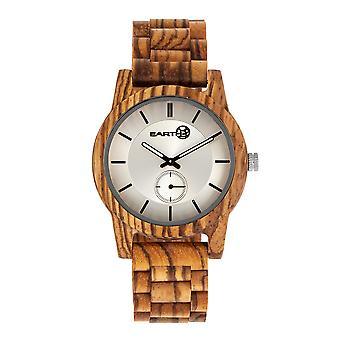 Earth Wood Blue Ridge Bracelet Watch - Zebra