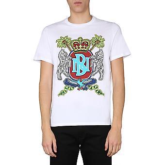 Neil Barrett Bjt768bn587s2357 Men''s White Cotton T-shirt