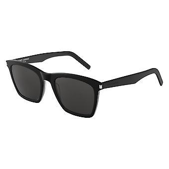 Saint Laurent SL 281 Slim 001 Óculos escuros pretos/cinzas