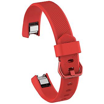 "Replacement Strap Silicone Band Bracelet for Fitbit Ace Kids / Alta / Alta HR[Small Fits Wrist 5.5"" - 6.9"",Red]"