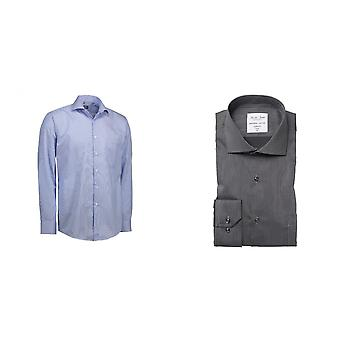 ID Mens Fine Twill California Shirt Langarm Modern