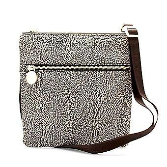 Borbonese pieni laukku naisten olkapää (op Classic/ruskea) 22x 23,5 x3 cm (W x H x L)