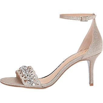 Jewel Badgley Mischka Women's KIRSTEN Sandal, gold glitter, 7 M US