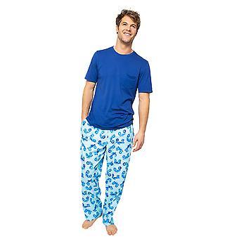 Cyberjammies Dylan 6512 Men's Blue Knit Pyjama Top