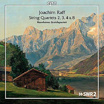 Raff / Mannheim String Quartet - quatuors à cordes nos 2 & 3 & 4 & 8 [CD] USA import