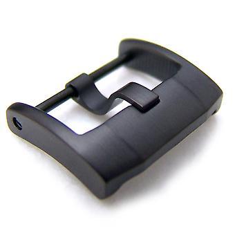 Strapcode zegarek klamra 18mm, 20mm, 22mm najwyższej jakości stal nierdzewna 316l wkręcane klamry iwc stylu, pvd czarny