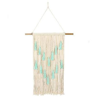 Something Different Aqua Wall Hanging with Tassels