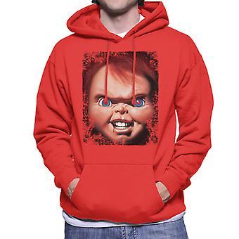 Chucky Face närbild män ' s Huvtröja