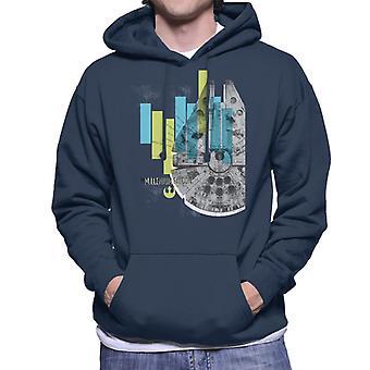 Star Wars Millenniumm Falcon Corellian światło frachtowiec męskie Bluza z kapturem