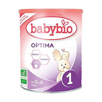 Babybio 1 Optima Organic Baby Milk - 0 to 6 Months 400 g of powder