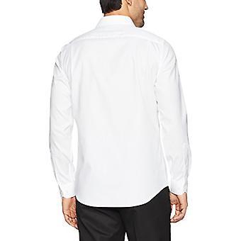 BUTTONED DOWN Männer's maßgeschneiderte Fit Spread-Collar solide Nicht-Eisen Kleid Shirt (Po...