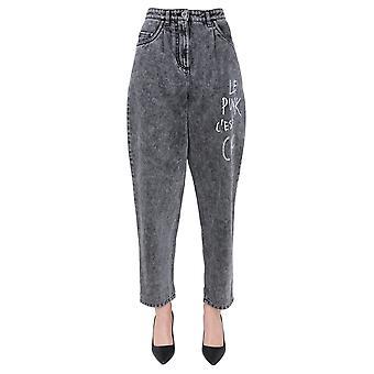 Boutique Moschino 031158201516 Dames's Black Cotton Jeans