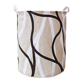 1pc Dirty Clothes Sundries Toys Storage Bucket - Cloth Art Folding Geometry Laundry Basket Organizer