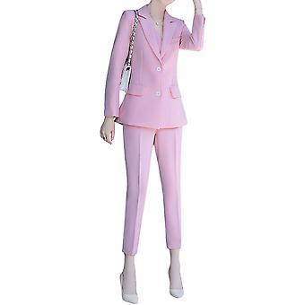 Kvinner Damer Slank Elegant Avslappet Stripete Forretningsarbeid Formell Tredelt Dress