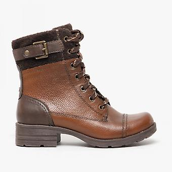Earth Spirit Madera Ladies Leather Ankle Boots Dark Almond