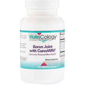 Nutricology, Boron Joint with CurcuWin, 120 Vegetarian Capsules