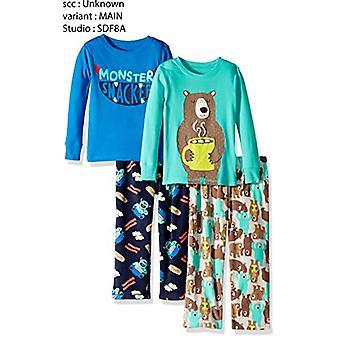 Simple Joys di Carter's Boys' Toddler 4-Piece Pigiama Set, Monster/Bear, 3T