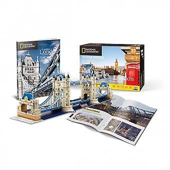 National Geographic - toren brug -120 stuk 3d puzzel