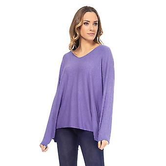 Crinckle Knit Pullover with round neck