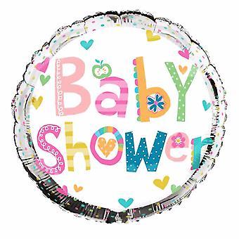 Simon Elvin Baby Shower Silver Round Foil Balloon