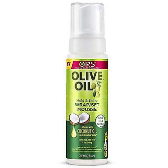 Biologische wortel stimulator olijfolie wrap set mousse, 7 oz *