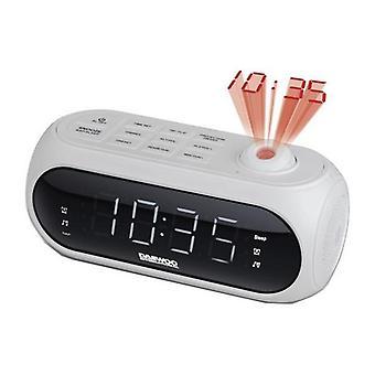 Despertador de rádio com projetor LCD