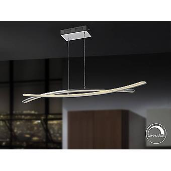 Schuller Linur - Zintegrowany wisiorek sufitowy LED Bar Chrom