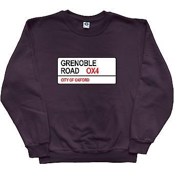 Grenoble Road OX4 Road Sign Black Sweatshirt