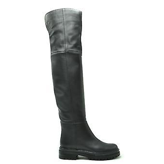 Gianvito Rossi Ezbc443007 Women's Black Leather Boots
