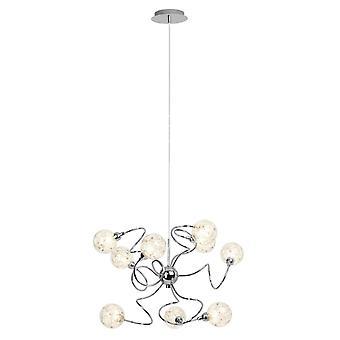 BRILLIANT Lamp Joya Vedhæng Lampe 9flg krom   9x QT14, G9, 33W, egnet til pennesklamper (ikke inkluderet)   Skala