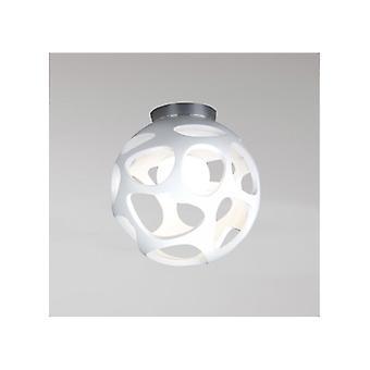 Mantra 5143 Organica Ceiling 1 Light E27, Gloss White/polished Chrome