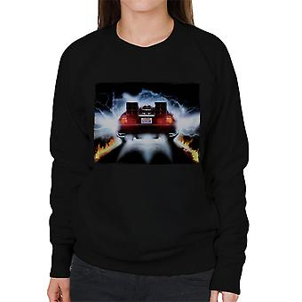Back to the Future Delorean Taking Off For Time Travel Women's Sweatshirt