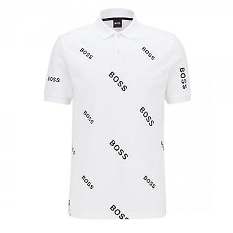 Hugo Boss Phillipson 76 Multi Logo Polo Blanc 50435783
