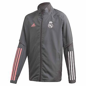 2020-2021 Real Madrid Presentation Jacket (Grey) - Kids