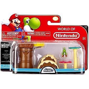 Yoshi Layer Cake Desert (Super Mario Bros) Microland Action Figure