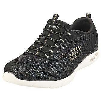 Skechers Empire Dlux Charming Grace Kvinders Fashion Trainers i Sort Multicolour