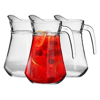 Argon Tableware 'Brocca' Glass Water / Cocktail / Pitcher Jug - 1480ml (52oz) - Party Pack Of 24