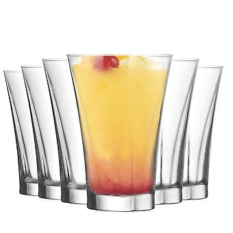 LAV Truva Highball Cocktail Tumbler Bril - 350ml - Pack van 6 Highball Glazen voor cocktails