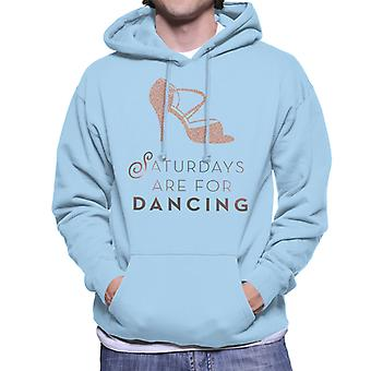 Strictly Come Dancing Saturdays Are For Dancing Glitter Stiletto Men's Hooded Sweatshirt