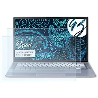 بروني 2x حامي الشاشة متوافق مع Asus ZenBook 14 فيلم واقية