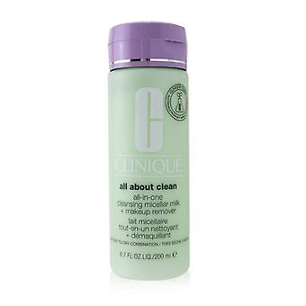 Clinique All about Clean All-In-One Cleansing Micellar Milk + Makeup Remover - Very Dry to Dry Combination 200ml/6.7oz