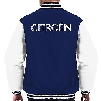 Citro?n Retro Line White Logo Men's Varsity Jacket