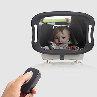 Remote Led Lights Acrylic Abs 360 Degree Rotation Baby Rearview Mirror